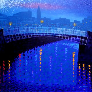 SOLD OUT Ha Penny Bridge Painting B 17 3 2013