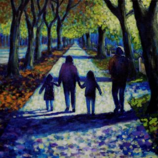 Griffith Avenue Walk 13 2 2021 015 - acrylic on canvas - 20