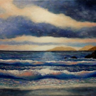 Seascape 5 2 2021 001 Seascape - Coumeenole Beach  - Slea Head, - Dingle Peninsula - acrylic on stretched canvas - varnished - Canvas size 20