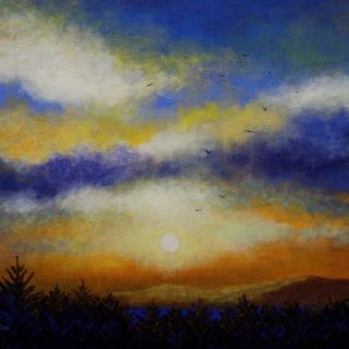 Skyscape 16 2 2021 163 - acrylic on stretched canvas - varnished - 20