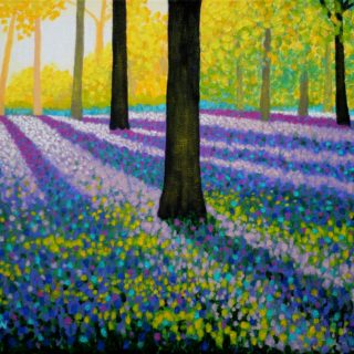 Shadow Trees B19 5 2021 004 - SOLD - acrylic on stretched canvas - varnished - framed - canvas size 16