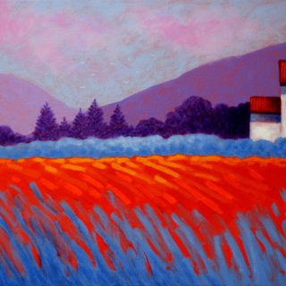 Cadmium Meadow II - Acrylic on stretched canvas - varnished and framed - €695