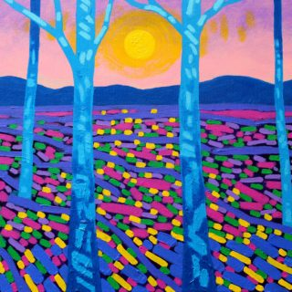 Sunbright - Acrylic on stretched canvas - varnished and framed - €695